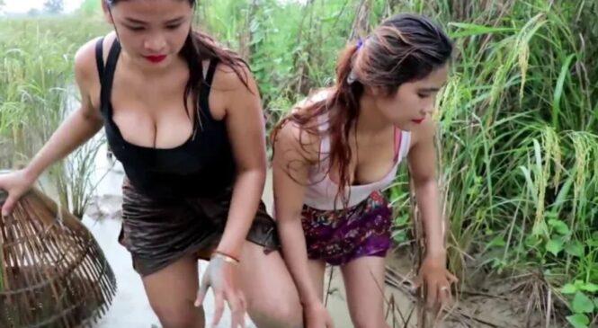 यी सुन्दर युवतीहरुको यस्तो अचम्मको माछा मार्ने तरिका (हेर्नुहोस् भिडियो सहित)