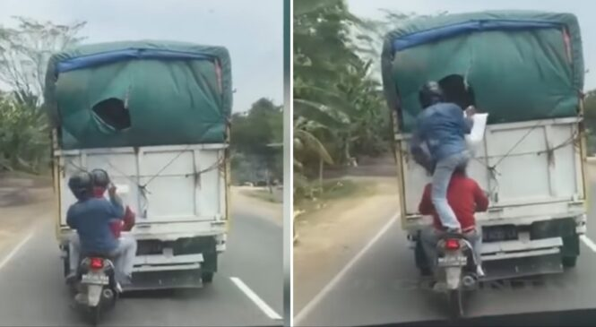 चोरीको यो कस्तो अनौठो तरिका ? गुड्दै गरेको गाडीबाट बोरा झिके यी चोरले (भिडियो सहित)